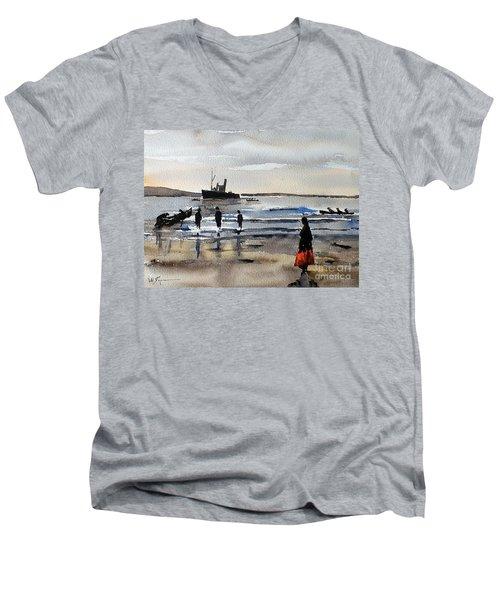 The Dun Aengus Off Aran, Galway Men's V-Neck T-Shirt