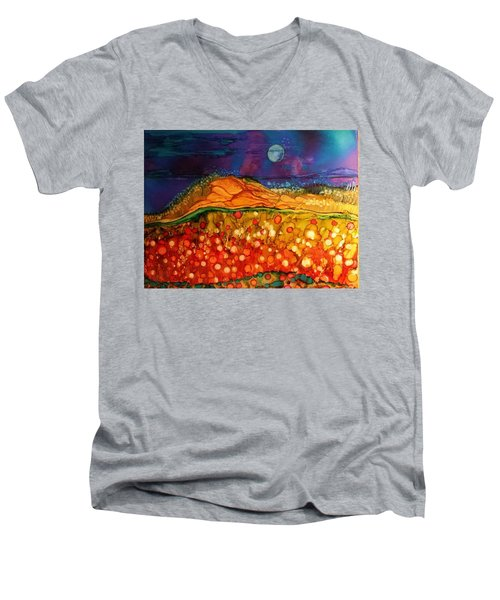 The Dunes At Night Men's V-Neck T-Shirt