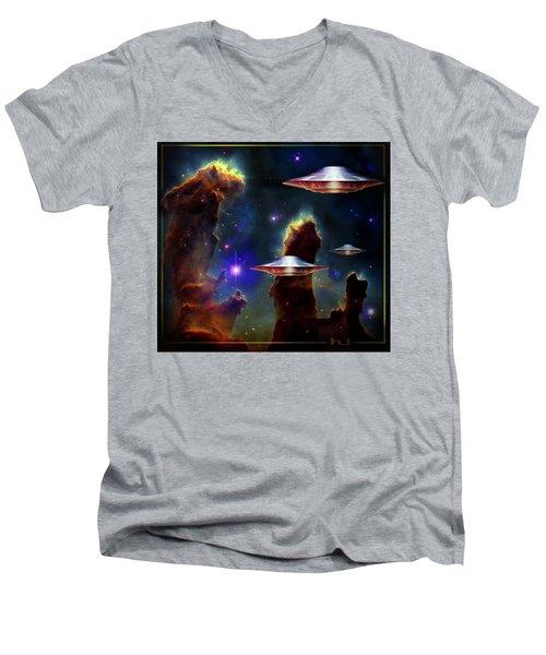 The  Eagle  Nebula  Men's V-Neck T-Shirt