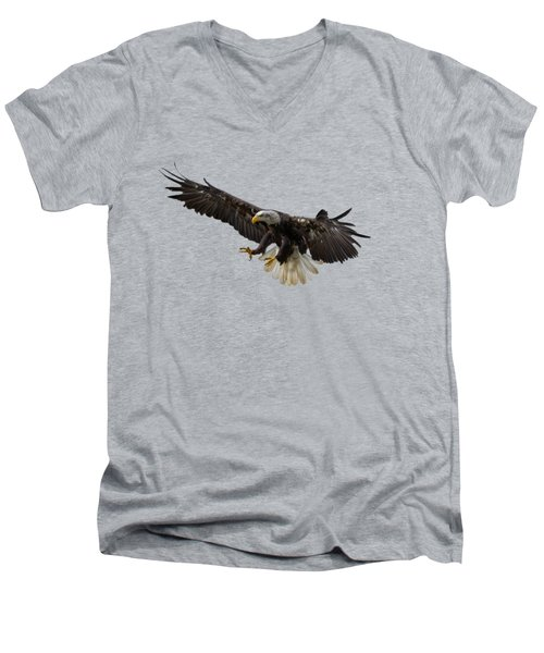 The Eagle Men's V-Neck T-Shirt by Scott Carruthers