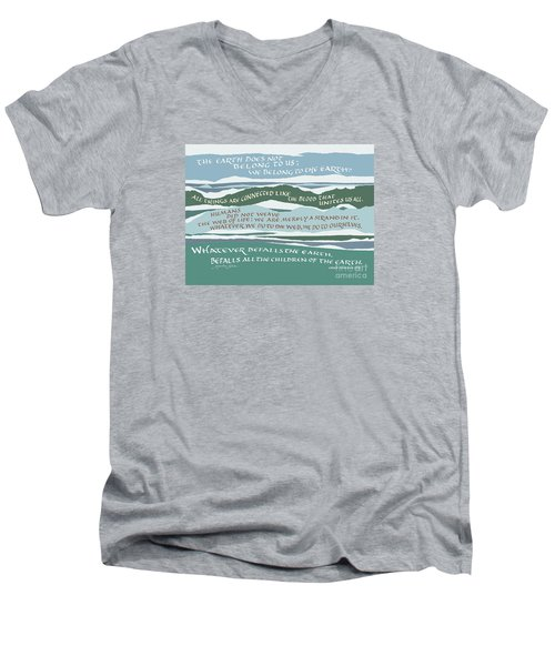 The Earth Does Not Belong To Us Men's V-Neck T-Shirt