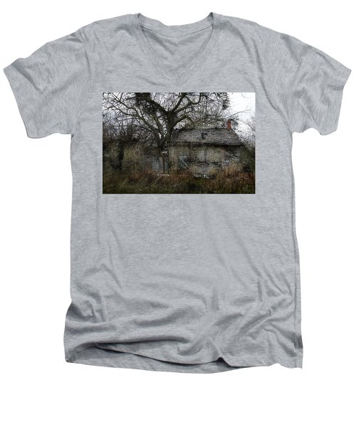 The Earth Reclaims Men's V-Neck T-Shirt by Jim Vance