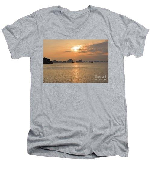 The Edge Of The World Men's V-Neck T-Shirt