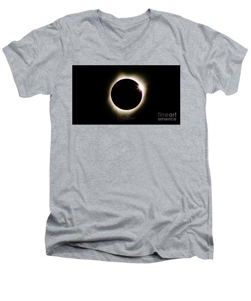 The Edge Of Totality 2 Men's V-Neck T-Shirt