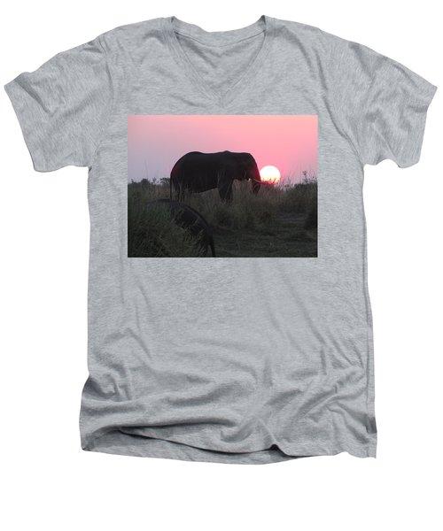 The Elephant And The Sun Men's V-Neck T-Shirt