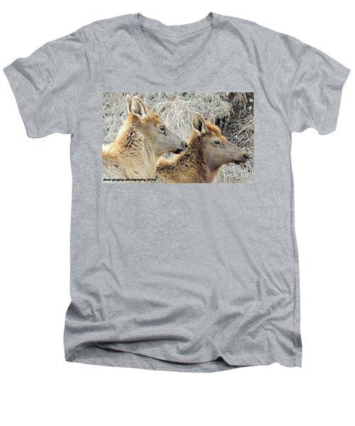 The Elk Of Winter  Men's V-Neck T-Shirt
