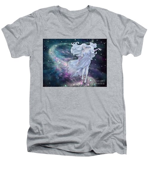 Men's V-Neck T-Shirt featuring the digital art The Emancipation Of Galatea by Amyla Silverflame