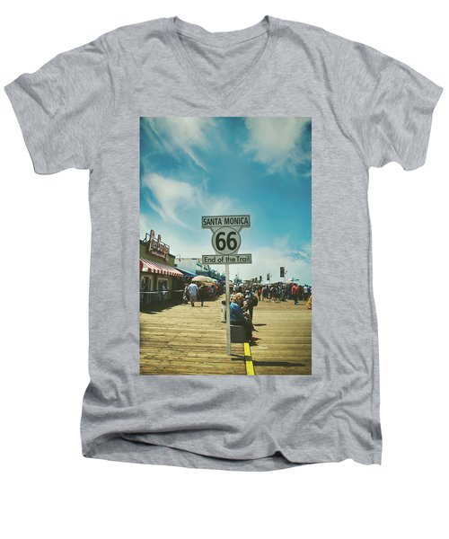 The End Of Sixty-six Men's V-Neck T-Shirt