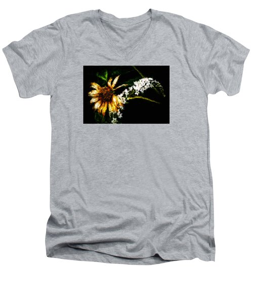 Men's V-Neck T-Shirt featuring the digital art The End Of Summer by Cameron Wood