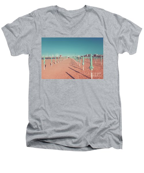The End Of Summer Season  Men's V-Neck T-Shirt
