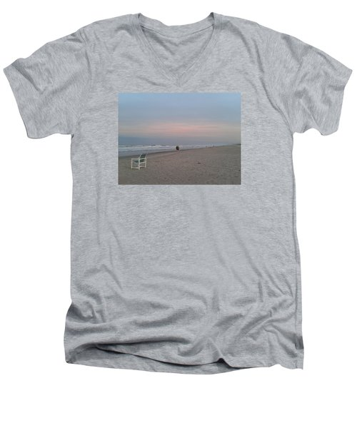 The End Of The Day Men's V-Neck T-Shirt by Veronica Rickard