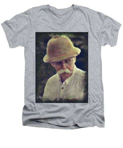 The English Gentleman Men's V-Neck T-Shirt