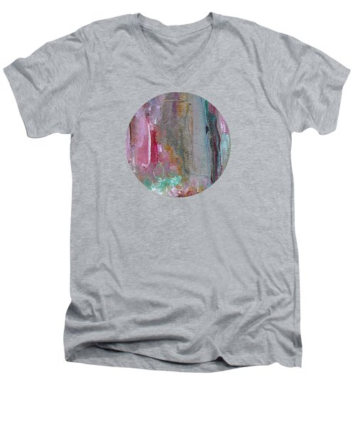 Men's V-Neck T-Shirt featuring the painting The Entrance by Mary Wolf