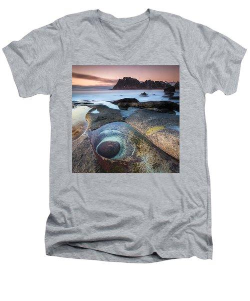 The Evil Eye Men's V-Neck T-Shirt by Alex Conu