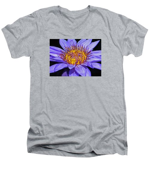 The Eye Of The Water Lily Men's V-Neck T-Shirt by Emmy Marie Vickers
