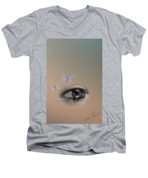 The Eyes Don't Lie Men's V-Neck T-Shirt