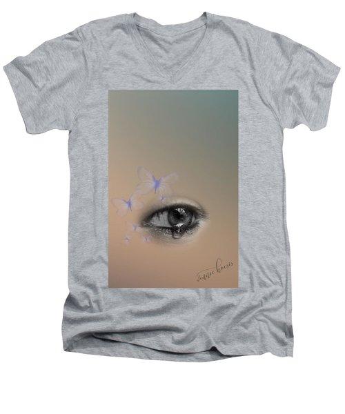 The Eyes Don't Lie Men's V-Neck T-Shirt