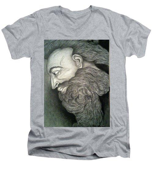The Face Of God Men's V-Neck T-Shirt