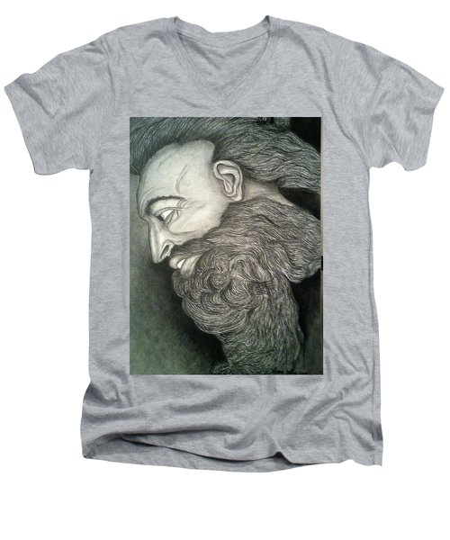 The Face Of God Men's V-Neck T-Shirt