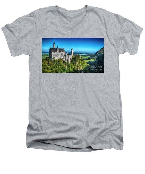 The Fairy Tale Castle Men's V-Neck T-Shirt by Pravine Chester