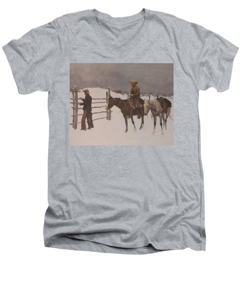 The Fall Of The Cowboy Men's V-Neck T-Shirt