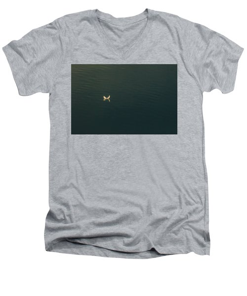 Men's V-Neck T-Shirt featuring the photograph The Feather 2 by Timothy Latta
