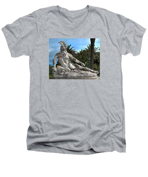 Men's V-Neck T-Shirt featuring the photograph The Feather by Richard Ortolano