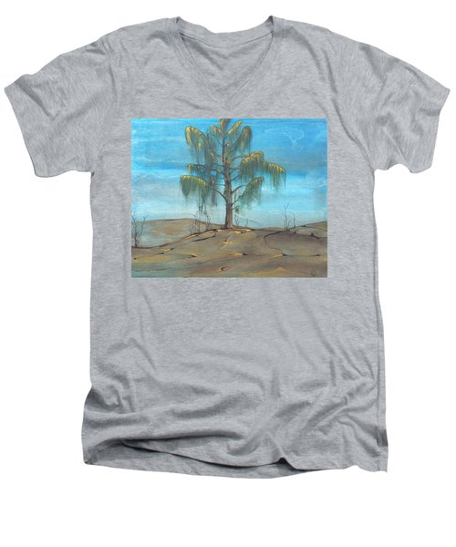 The Feather Tree Men's V-Neck T-Shirt by Pat Purdy
