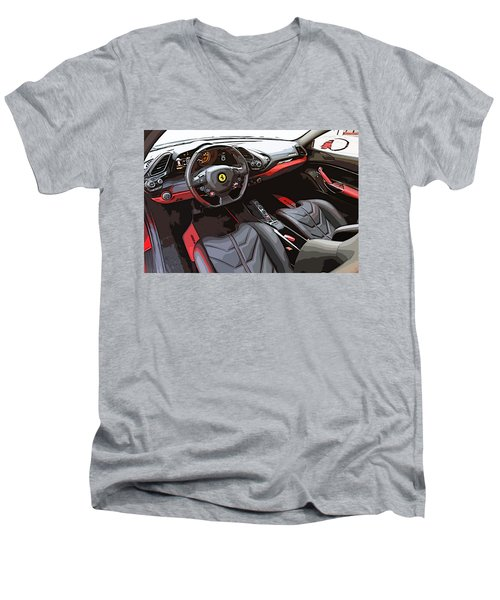 The Ferrari 488 2016 Men's V-Neck T-Shirt