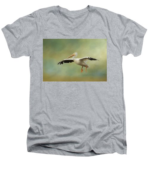 Men's V-Neck T-Shirt featuring the photograph The Final Approach by Kim Hojnacki