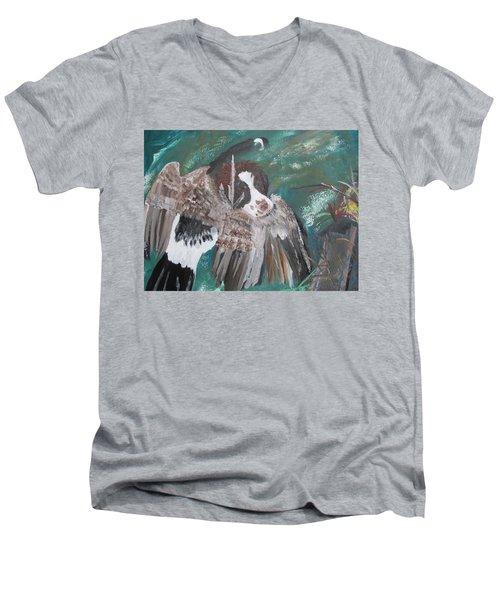 The First Retrieve Men's V-Neck T-Shirt