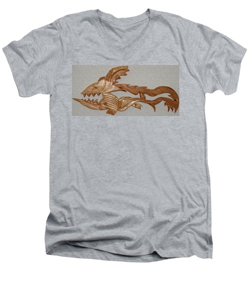 The Fish Skeleton Men's V-Neck T-Shirt