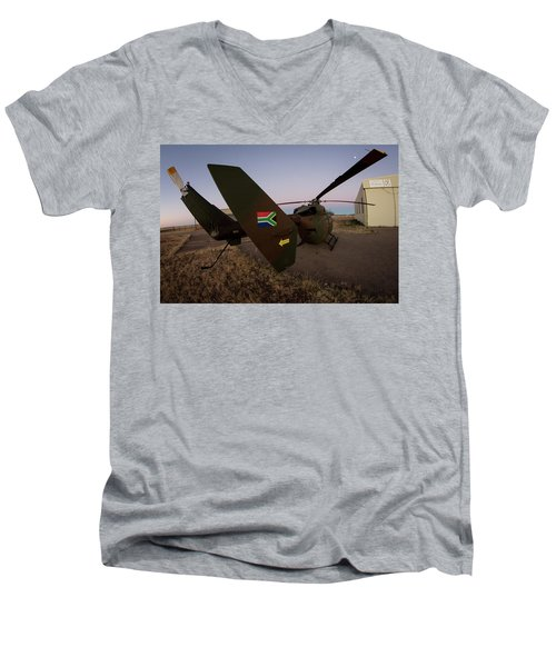 Men's V-Neck T-Shirt featuring the photograph The Flag by Paul Job