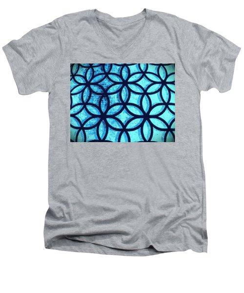 The Flower Of Life Men's V-Neck T-Shirt by Karl Reid