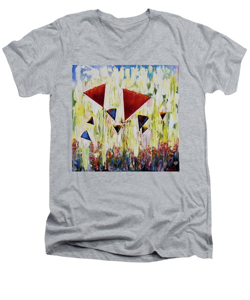 The Flower Party Men's V-Neck T-Shirt