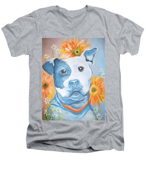 The Flower Pitt Men's V-Neck T-Shirt
