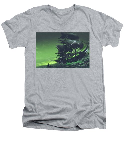 The Flying Dutchman Men's V-Neck T-Shirt