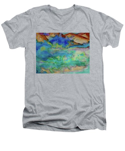 The Fog Rolls In Men's V-Neck T-Shirt by Kim Nelson