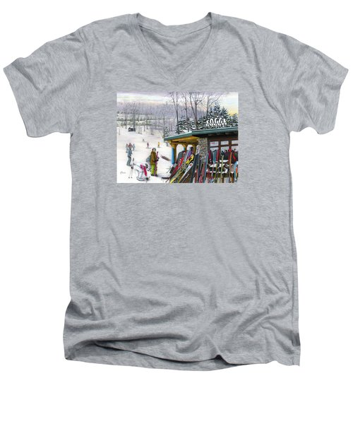 The Foggy Goggle At Seven Springs Men's V-Neck T-Shirt