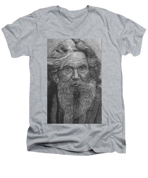 The Folk Singer Men's V-Neck T-Shirt