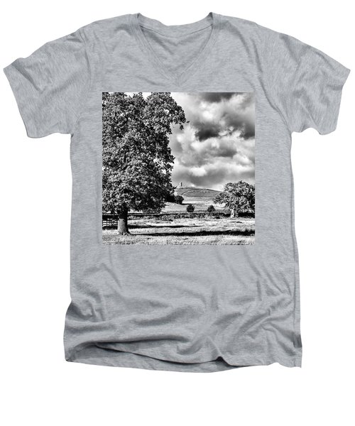Old John Bradgate Park Men's V-Neck T-Shirt by John Edwards
