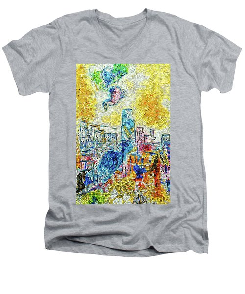 The Four Seasons Chicago Portrait Men's V-Neck T-Shirt