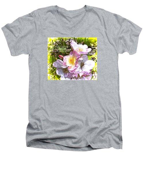 The Frailty Of Summer Roses And Of Love Men's V-Neck T-Shirt