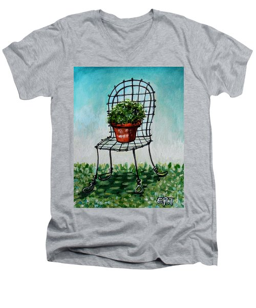 The French Garden Cafe Chair Men's V-Neck T-Shirt