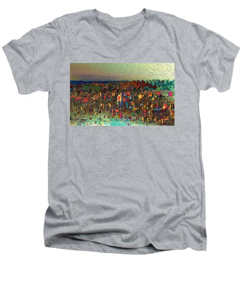 The Fun Side Of Town Men's V-Neck T-Shirt