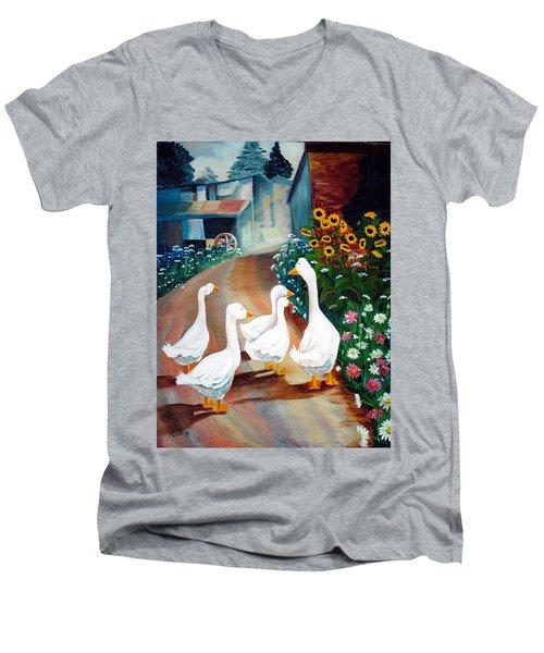 The Gaggle Men's V-Neck T-Shirt