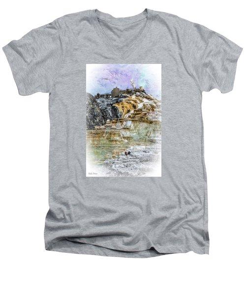 The Galaxian Traveler Corp Men's V-Neck T-Shirt