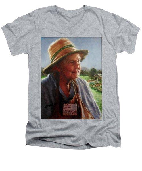 The Gardener Men's V-Neck T-Shirt by Janet McGrath