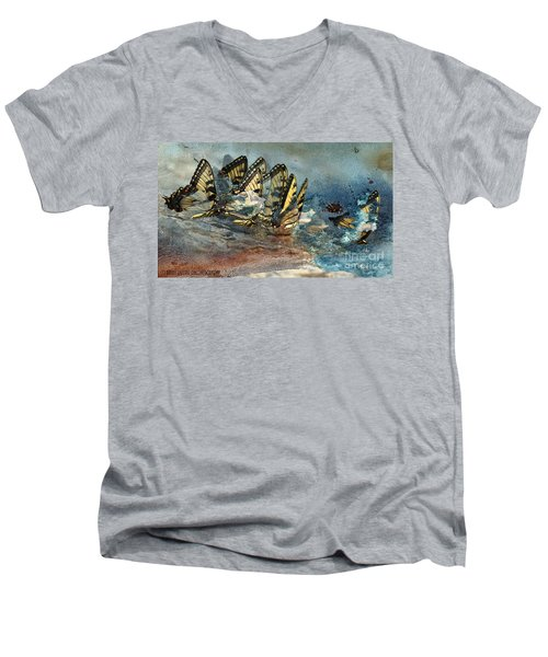 The Gathering Men's V-Neck T-Shirt by Kathy Russell