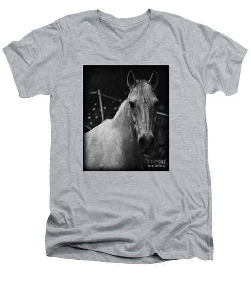 The General Men's V-Neck T-Shirt by Clare Bevan
